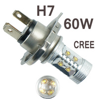 2pcs H7 60w High Power LED Car Fog Running Light Bulbs White 12V 24V DC Replace