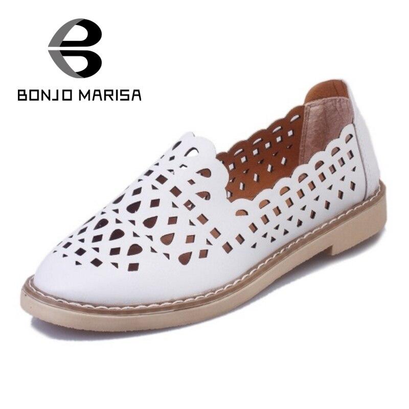 Bonjomarisa populares del recorte de las mujeres zapatos de verano mujer slip on