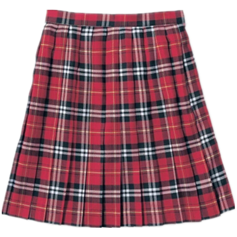 Buy 2016 New Brands Red Plaid Pleated