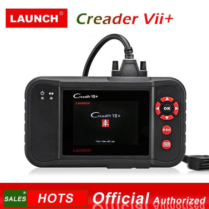 LANÇAMENTO Creader VII + OBD2 X431 Carro Leitor de Código de Auto Scanner Ferramenta de Diagnóstico para o Motor Transmissão ABS Airbag Creader VII além de