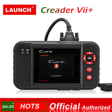 цена на LAUNCH X431 Creader VII+ OBD2 Car Code Reader Scanner Auto Diagnostic Tool for Engine Transmission ABS Airbag Creader VII Plus