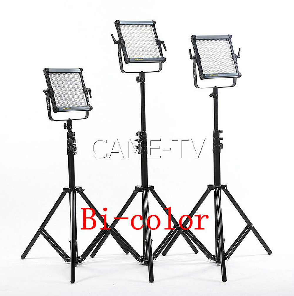 Tv Studio Verlichting Us 868 Came Tv 576b Tweekleurige Led Panelen 3 Stuk Set Film Studio Light Led Video Verlichting In Came Tv 576b Tweekleurige Led Panelen 3 Stuk