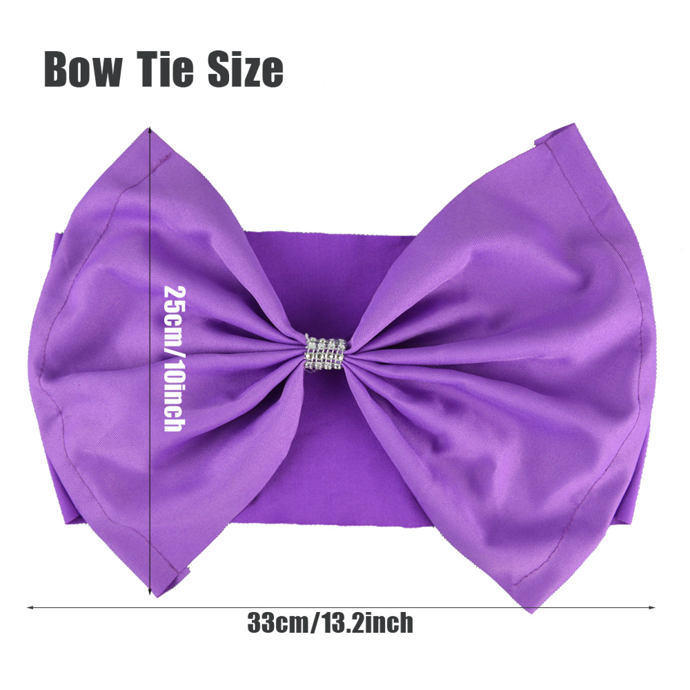 Cheap 20pcs/lot Red/Blue/Purple 10 Colors Spandex Hotel Banquet Chair Bow Knot For Wedding Party Kids Birthday Decoration