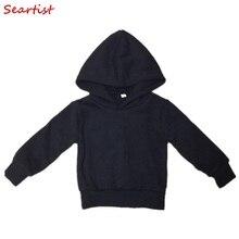 Baby Boys Girls Spring Autumn Black Gray Coat Boy Girl Cotton Hoodies Children's Sweatshirts Kids Tops C15