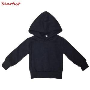 Seartist Baby Boys Girls Hoodies Boy Girl Sweatshirt Kids Solid Black Gray Outfit Bebe Pullover Hoodie Baby Boy Clothes 2019 35