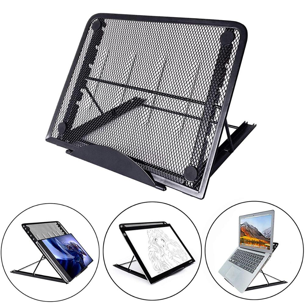 Mesh Ventilated Adjustable Laptop Stand Portable Folding Light Box Laptop Pad Stand Portable Folding Light Box Laptop Pad Stand