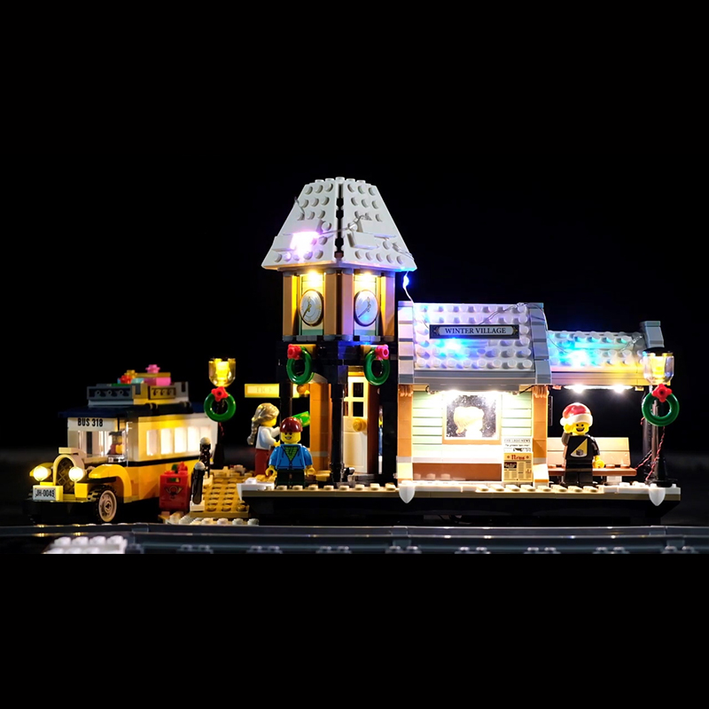 Led Light Set For Lego 10259 The Winter Village Compatible 36011 friend Genuine Creative Series Building Blocks(Only lights)