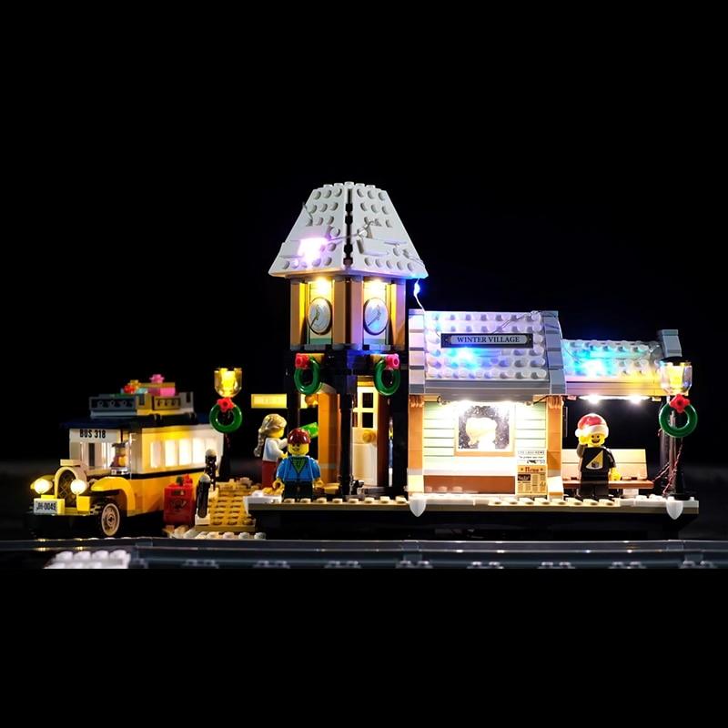 Led Light Set For Lego 10259 The Winter Village Set Compatible 36011 friend Genuine Creative Series Building Blocks(Only lights) telecool led light building blocks set only light set for lepin 07045 and 70905 superhero movie the batman robbin s mobile set