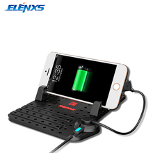 Anti-slip Car Phone Holder Mat Navigation Phone USB Charger Holder for iPhone For Android