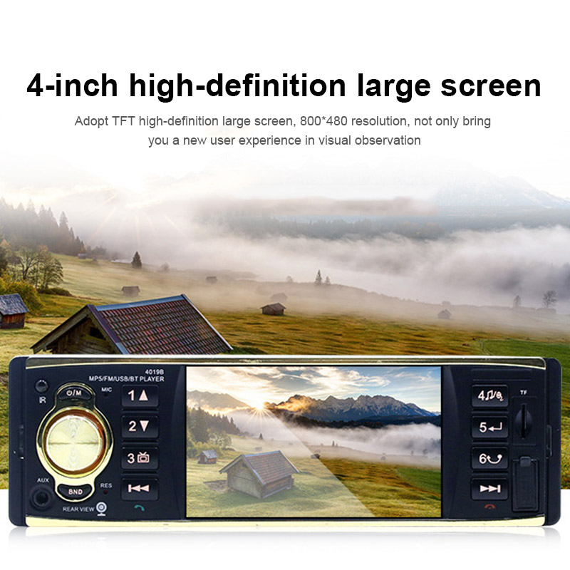 Do Promotion! MP5 Player Bluetooth Handsfree Reversing Rearview Music FM Radio HD Screen Time Display