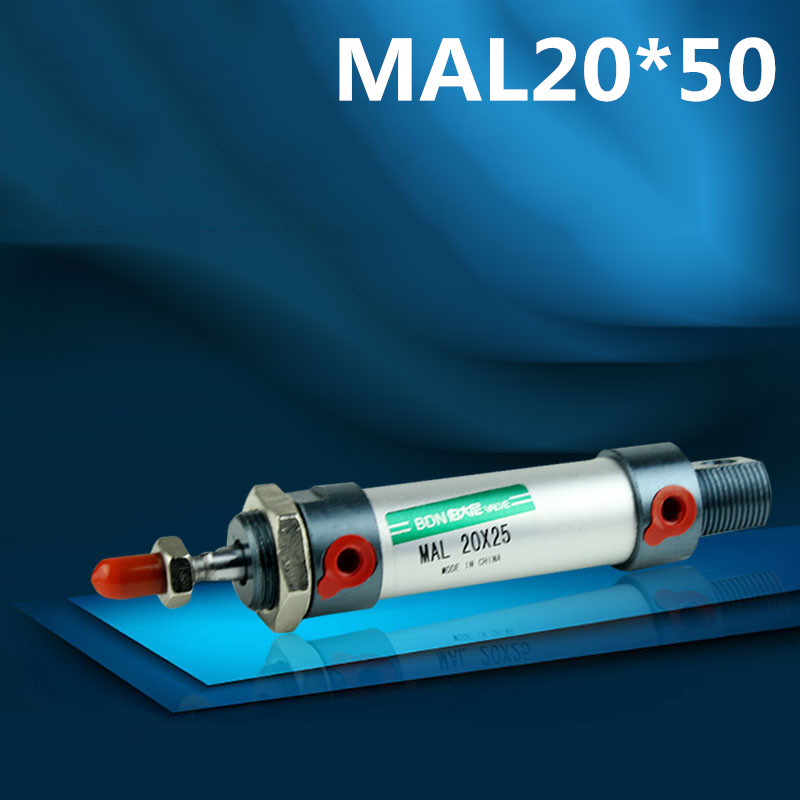 10pcs MAL mini cylinder, MAL air cylinder, bore 20mm, stroke 50mm, ISO standard, ouble acting cylinder