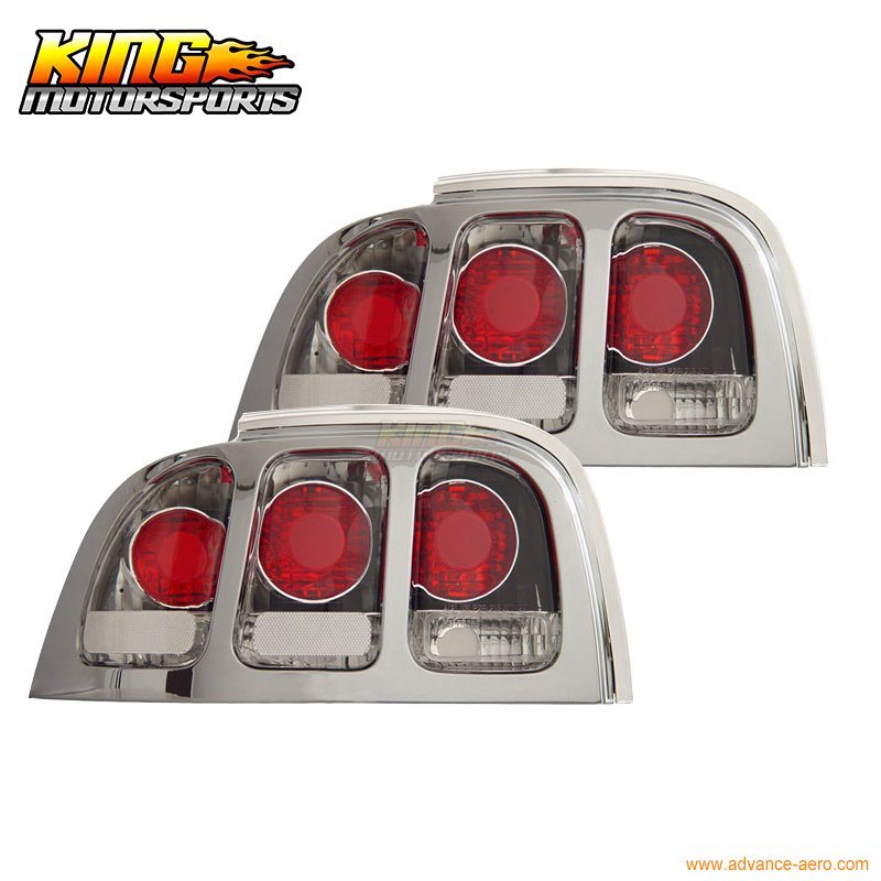 For 94 98 Ford Mustang Tail Lights Chrome 1995 1996 1997 USA Domestic Free Shipping