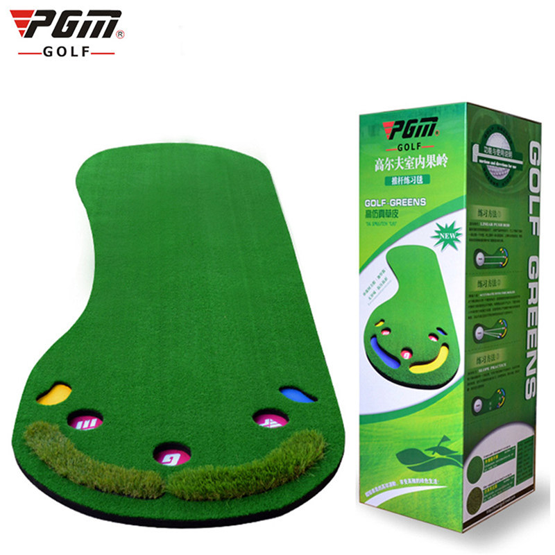 PGM Golf Putting Mat Golf Putter Trainer Carpet Big Feet Golf Trainer Mat Artificial Grass Carpet Professional Practice Indoor simulation mini golf course display toy set with golf club ball flag