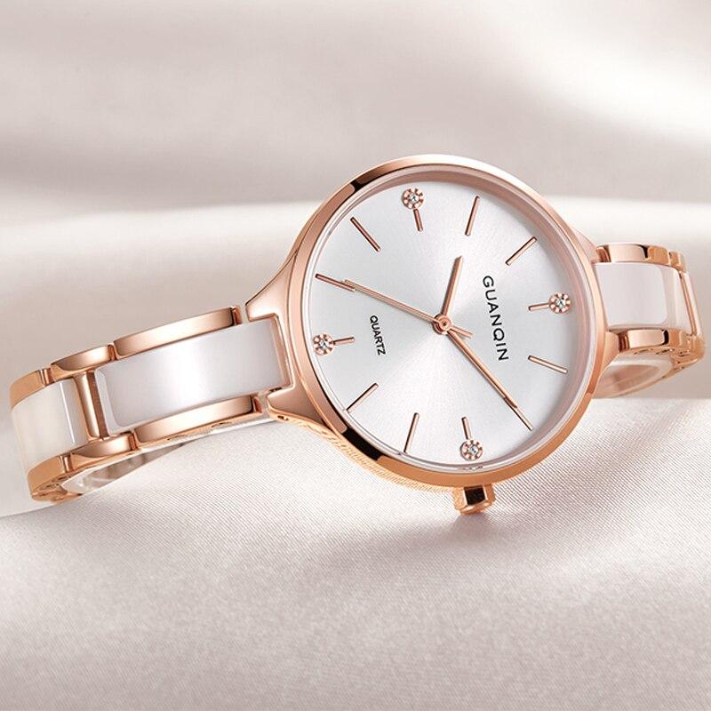 GUANQIN นาฬิกาผู้หญิงเซรามิคนาฬิกาผู้หญิงขนาดเล็กนาฬิกากันน้ำแฟชั่นนาฬิกาข้อมือควอตซ์ relogio feminino dropshipping-ใน นาฬิกาข้อมือสตรี จาก นาฬิกาข้อมือ บน AliExpress - 11.11_สิบเอ็ด สิบเอ็ดวันคนโสด 1