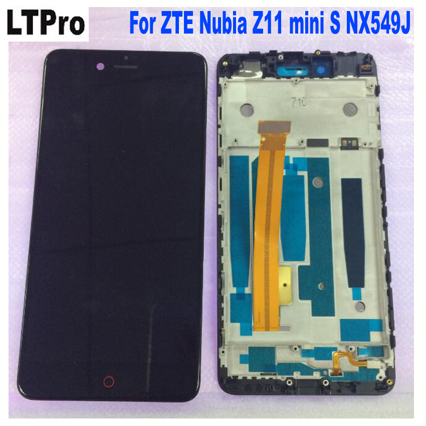 100% Tested Working Sensor For 5.2'' <font><b>ZTE</b></font> <font><b>Nubia</b></font> <font><b>Z11</b></font> <font><b>mini</b></font> S NX549J LCD display <font><b>touch</b></font> panel <font><b>screen</b></font> digitizer Assembly with frame image