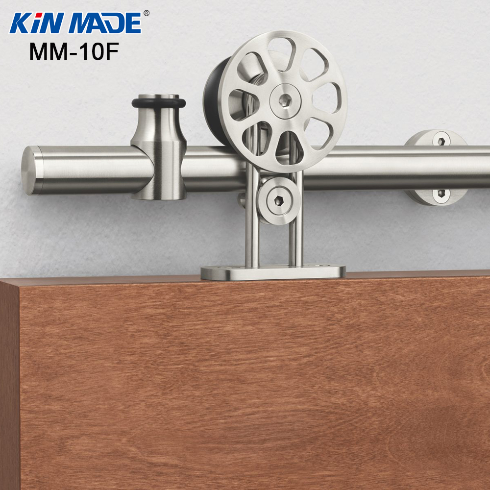 KIN MADE Modern Stainless Steel Radiation Shape Sliding Barn Wood Door Hardware Top Mounted Hanger TrackKIN MADE Modern Stainless Steel Radiation Shape Sliding Barn Wood Door Hardware Top Mounted Hanger Track