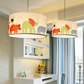400mm Children's room lamps bedroom balcony living room cartoon elephant child baby pendant light Nordic fabric lamp