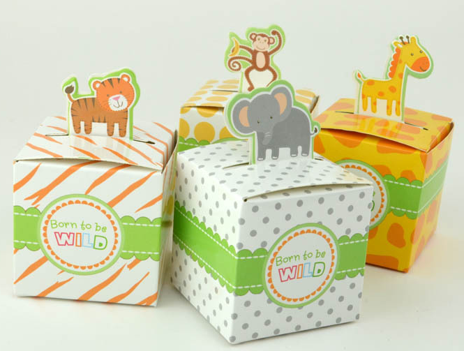Animal Cartoon Carton Candy Boxes Baby Shower Birthday Party Chocolate Packaing Box