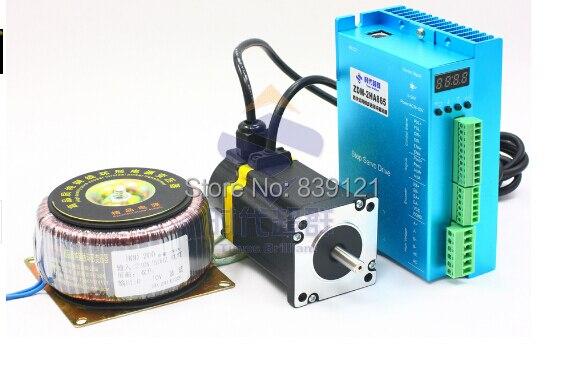 2 phases Nema 34 boucle fermée vitesse servo pas à pas ensemble en boucle fermée moteur pas à pas encodeur + pilote 12.5Nm avec puissance 220 v