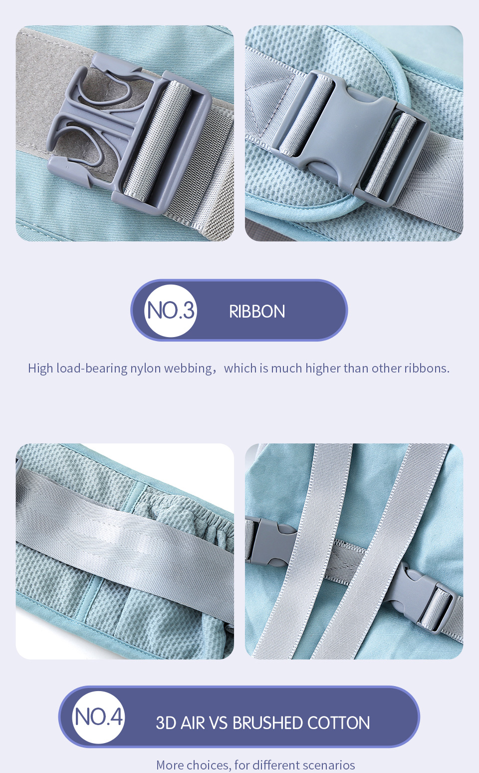 VIP Newborn Adjustable Sling Wrap Hipseat And Ergonomic Baby Carrier 4