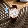 Splendid Quartz Watch Men Women Famous Brand Gold Leather Band Wrist Watches Luxury Drop Shipping