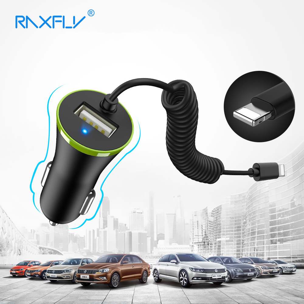 RAXFLY Mini USB Car Charger Micro USB Mobile Phone Car-Charger For Samsung S9 S8 Plus S7 For iPhone X 6 7 Plus Car Phone Charger
