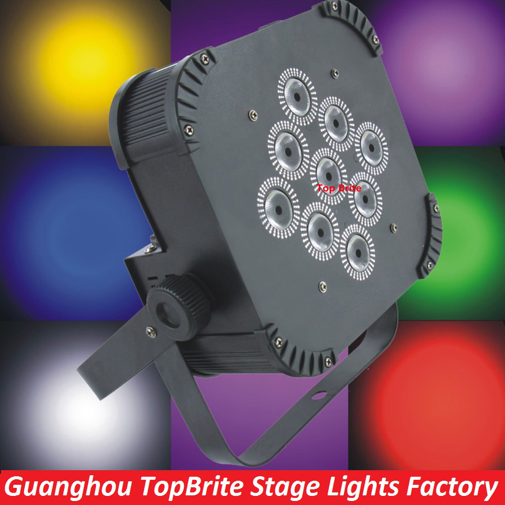 8XLot Best Price 135W LED Flat Par Light High Quality 9X15W LED Par Lights Iron Case With IR Remote For Professional Stage Shows high quality macadamia nut oil with best price