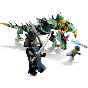 Image 5 - 2019 new creative ninjaly temple dragon action compatible with Legoings building block toy ninja urban brick toy childrens gift