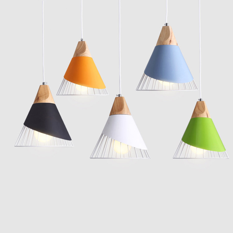 Slope lamps Pendant Lights Wood And Aluminum Restaurant Bar Coffee Dining Room LED Hanging Light Fixture creative modern lamps pendant lights wood lamp restaurant bar coffee dining room led hanging light fixture wooden