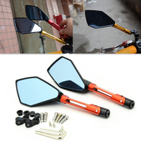 Motorcycle Mirrors Cafe Racer Chopper Bobber Scooter Bike Rearview Side Mirrors 6 8 10mm For Suzuki