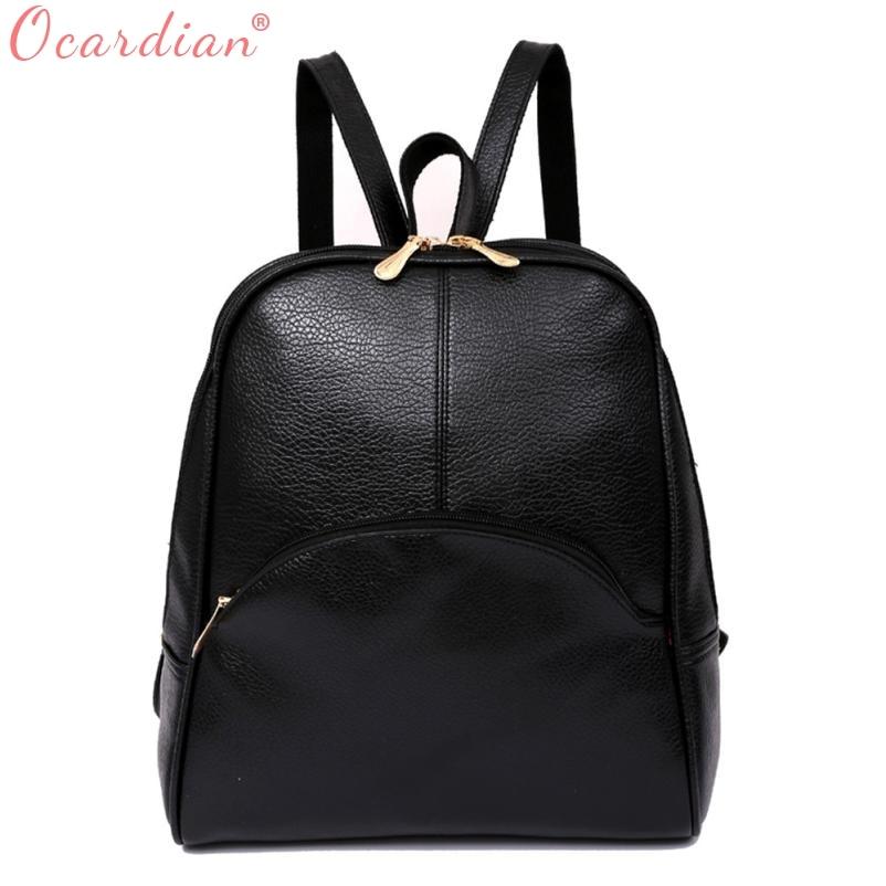 Ocardian Women Backpack Leather Backpacks Softback Bags Brand Name Bag Preppy Style Bag Casual Backpacks Teenagers Backpack X99 #1