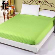 Bett ausgestattet Blätter 100% satin baumwolle weißen bettlaken, Single/Twin/full/königin/könig ausgestattet blatt bettwäsche, bett matratzenbezug