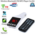 Levert DropshipBinmer Bluetooth Manos Libres Kit de Coche Reproductor de MP3 Transmisor Inalámbrico de FM USB SD TF Remoto SZ0216 * 20