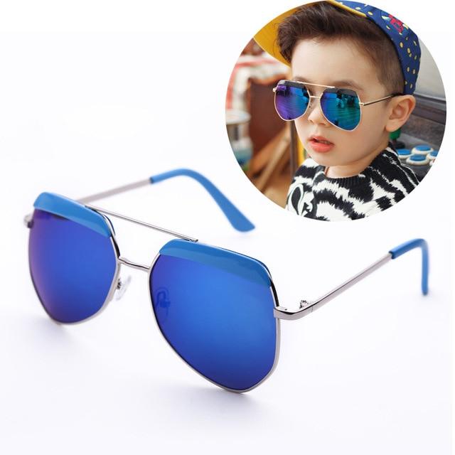 42eb7ba2ee 2015 New Kids Sunglasses polygon metal flat top Retro Mirror Children s Sun  Glasses uv400 Baby Sun