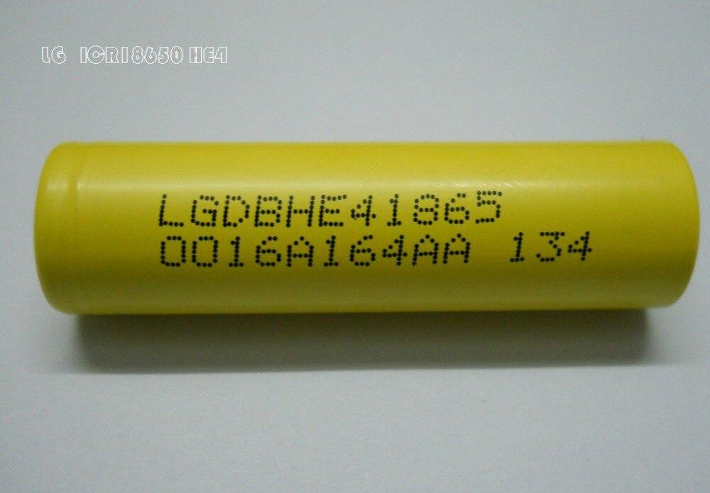 CDEK 2pcs lot Free shipping LG 18650he4 3 6V 2500mAh 30A high drain LG HE4 lg