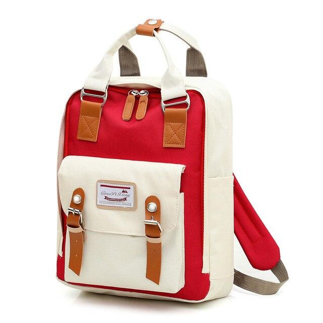 Multifunction women backpack girls shoulder bag High quality canvas laptop backpack schoolbag for teenager girls boys travel 3