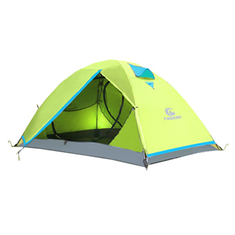 Vandrere 2.3KG Tent 210T Polyester Fabric 2 Person Double Layers Fiberglass Rod Camping Tent 3 Season high quality outdoor 2 person camping tent double layer aluminum rod ultralight tent with snow skirt oneroad windsnow 2 plus