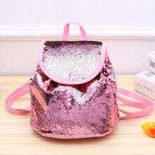 Рюкзак с блестками, женские блестящие рюкзаки для девочек-подростков, дорожные маленькие двойные сумки на плечо, детские дорожные рюкзаки