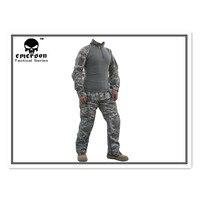 Emerson Getriebe Frosch Anzug Kampf Uniform Tactical Hemd & Hosen mit Knieschützer Ellbogenschützer EM2727 ACU