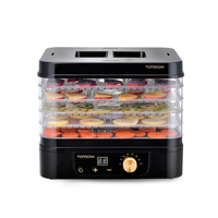 Safe Energy Saving Electric Fruit Drying Machine Home Food Dryer Fruit Vegetables Meat Dehydrator 5 Layers