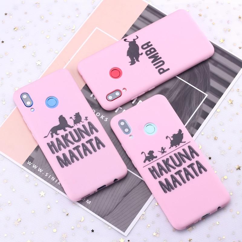 Для huawei Honor mate 10 20 Nova P20 P30 P Smart Hakuna Matata Король Лев карамельный силиконовый чехол для телефона Capa Fundas Coque