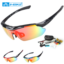 INBIKE Cycling Sunglasses Bike Bicycle Glasses Polarized Eyewear Goggle 5 Lens 3 Colors Frame UV Proof Brand New Glasses 619