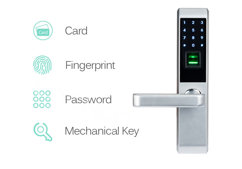 LACHCO 2019 Biometric Fingerprint Electronic Smart Door Lock, Code, Card,Touch Screen Digital Password Lock Key for home Ak18A3F
