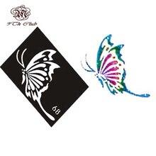 10 Pieces Air Brush Glitter Tattoo Stencil Cat Angel Heart Flower Butterfly Cute Templates,Woman Female Airbrush Tattoo Stencils