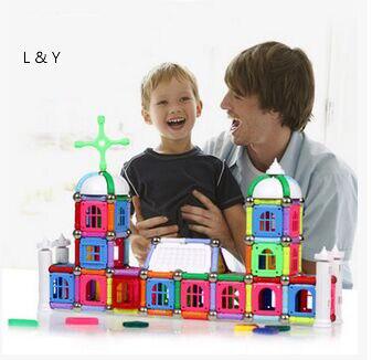 Haute qualité 330 pièces enfant éducation précoce aimant bloc de construction figure incroyable bâton magnétique jouet jouets ensemble