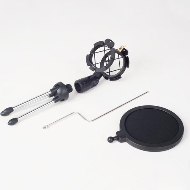 Soporte de micrófono ajustable Universal trípode de escritorio para grabación