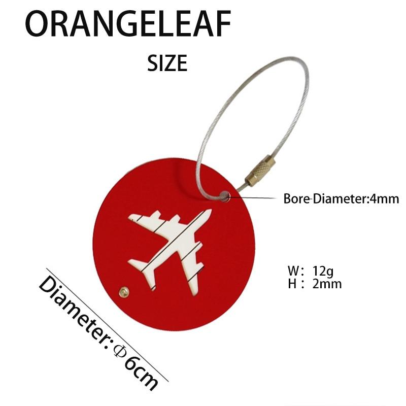Aluminium Cirkel Bagage Labels Vliegtuig Vorm Gecontroleerd Instappen - Reisaccessoires - Foto 5