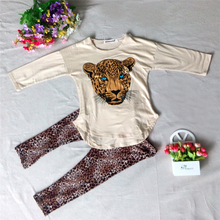 Girl's Leopard Printed Cotton Clothing Set