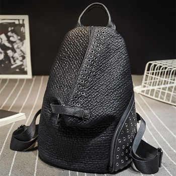 QINRANGUIO Women Backpack Genuine Leather Backpack Women 2019 New Design School Backpacks for Teenage Girls Mochila Feminina