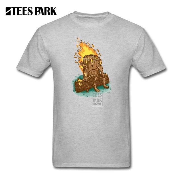 Funky T shirt Bad Day Log Men Pre Cotton Short Sleeve Clothes ...